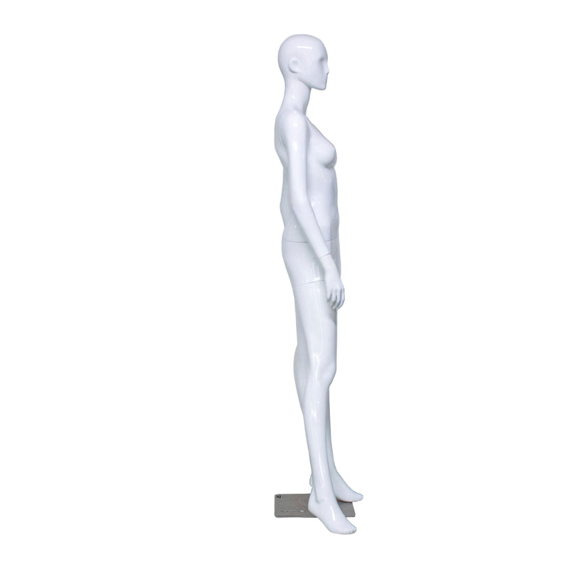 H2 White Gloss Female Mannequin