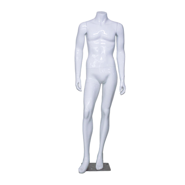 H3 White Gloss Male Mannequin