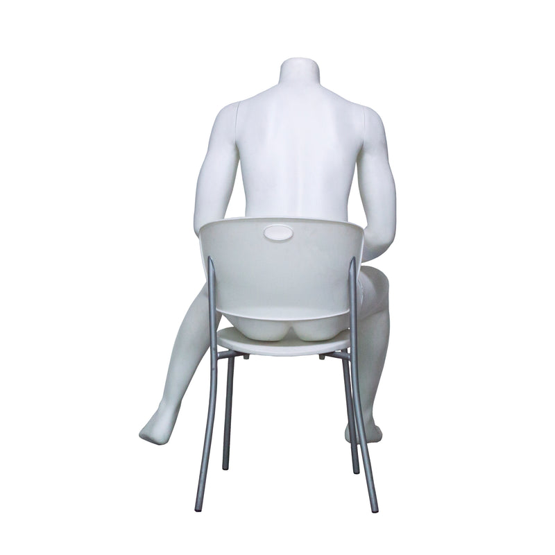 H4 Seated Male Mannequin
