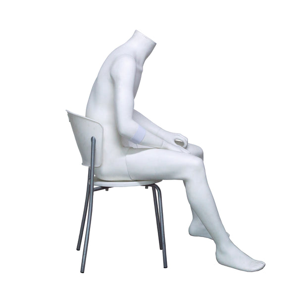 H4 Male Seated Headless Mannequin