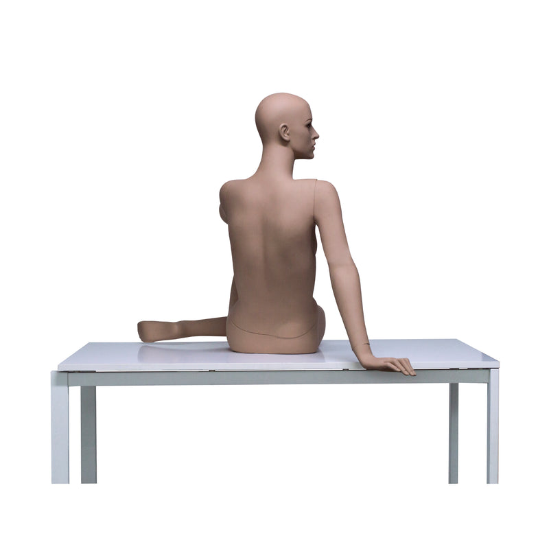 HB8 Full Body Matt Skin Colour Seated Female Mannequin Faceless