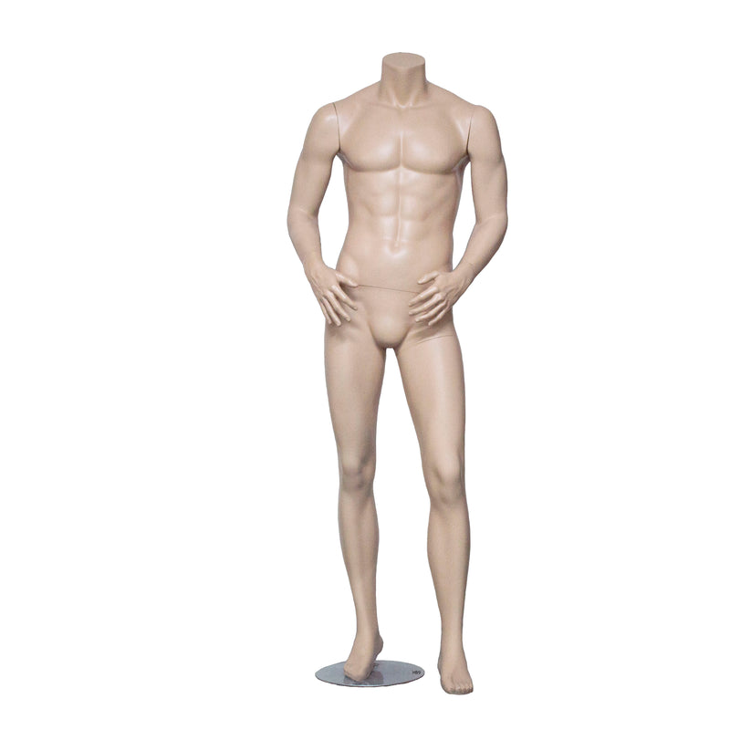 HB9 Matt Skin Colour Headless Male Mannequin