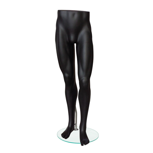 NF23 Male Matt Black Lower Body Mannequin
