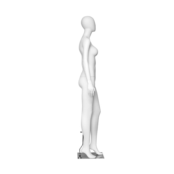 PF1 White Matt Female Mannequin