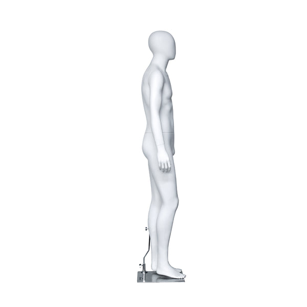 PM1 Male Matt White Mannequin