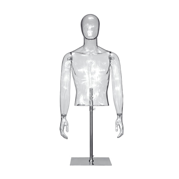 [Pre Order] TM1 Male Transparent Torso with Arms