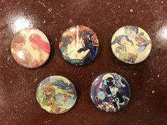 Mangaka Buttons (set of 5)