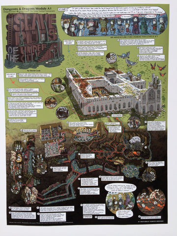 Slave Pits of the Undercity Walkthrough Map Print