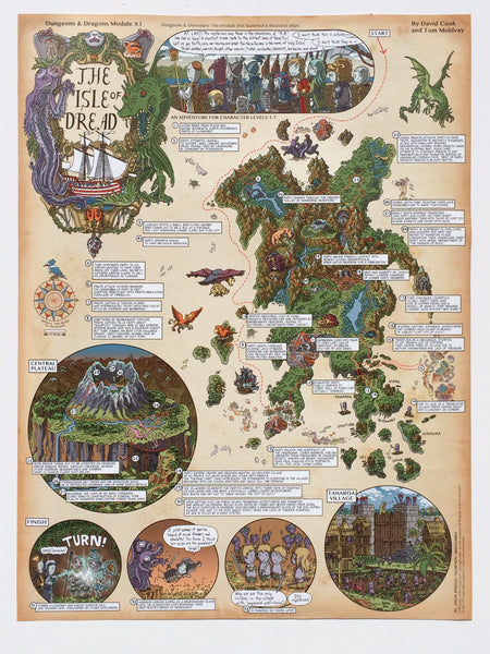 Isle of Dread Walkthrough Map Print
