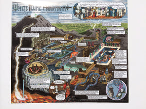White Plume Mountain Walkthrough Map Print