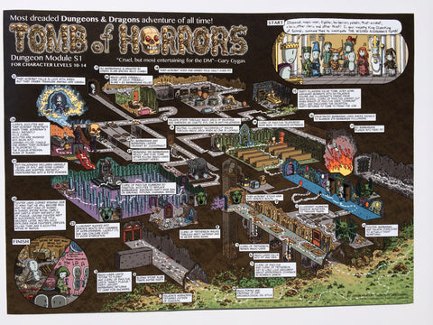 Tomb of Horrors Walkthrough Map Print