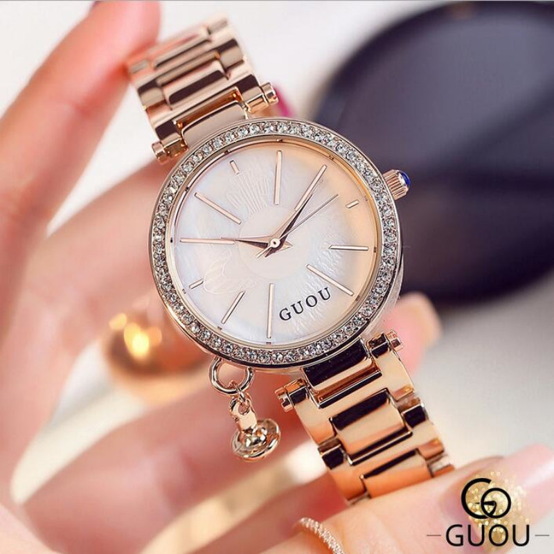 GUOU Diamond Watch - Lux Style Wrist