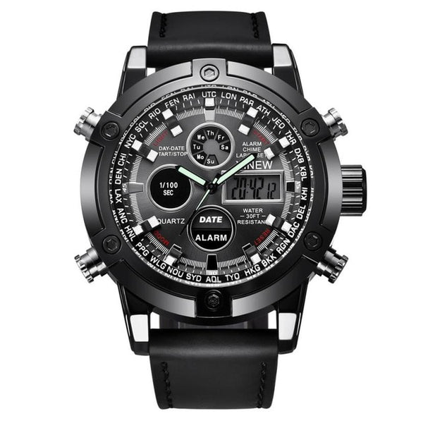 Sports Date Alloy Military Watch - Lux Style Wrist