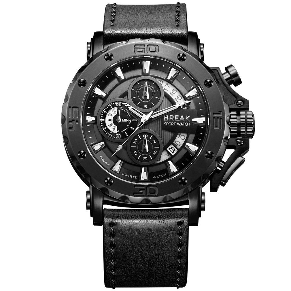 Chronograph Quartz Watch - Lux Style Wrist