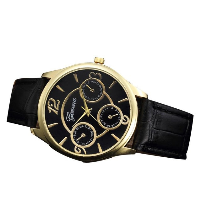 Retro Design Leather Band Watch - Lux Style Wrist