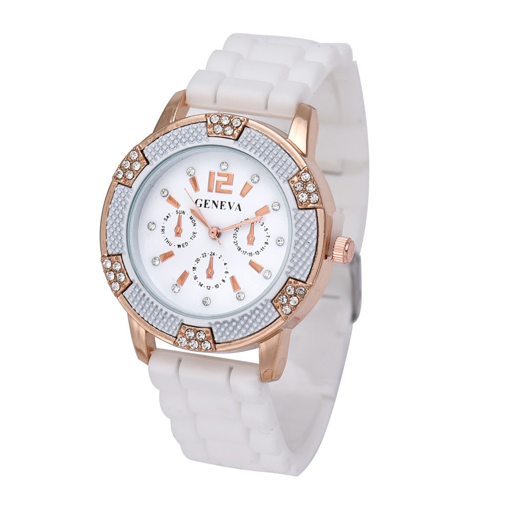 Rose Gold Faux Chronograph - Lux Style Wrist