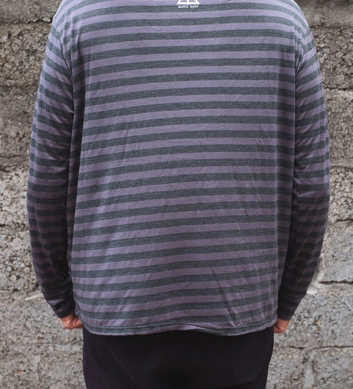 ALOHA OUTLINE MATTY LONG SLEEVE - GREY STRIPE - AURIC SURF