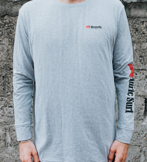 MARGARITA LINE MATTY LONG SLEEVE - LIGHT GREY - AURIC SURF