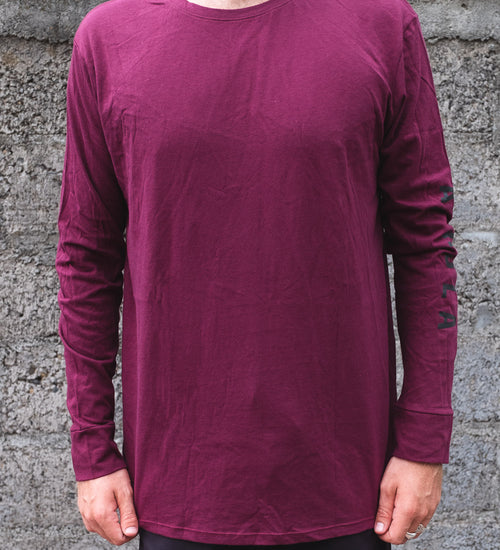 ALOHA MATTY LONG SLEEVE - VINO - AURIC SURF