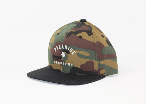 SNAPBACK - PARADISE PROBLEMS CAMO/BLACK - AURIC SURF