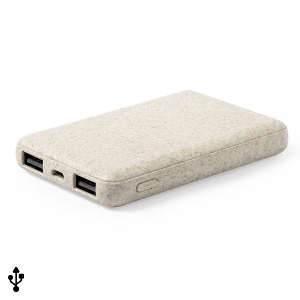 Power Bank 146539 Paglia di grano Abs