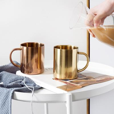 Glossy Metal Cups 6pcs Set