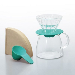 V60 Hario Glass Dripper Pro Set