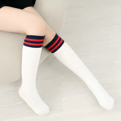Girls Tights Compression Stockings Striped Spring Kids Stockings Cotton Slim Tights