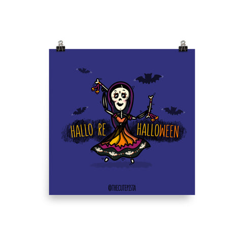 Hallo re Halloween - Art Print