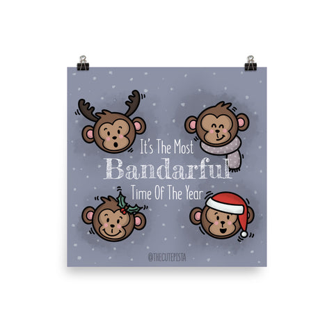 Bandarful Time (Christmas) - Art Print