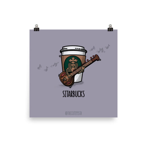 Sitarbucks - Art Print