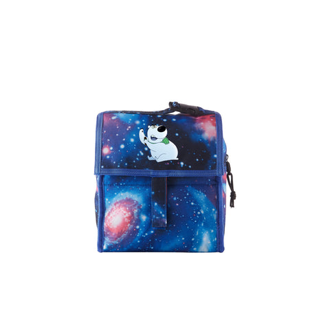 2019 A Storybots Christmas Logo Galaxy Freezable Lunch Bag with Zip Closure For School