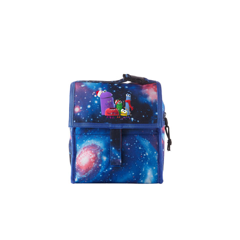 2019 A Storybots Christmas Theme Galaxy Freezable Lunch Bag with Zip Closure