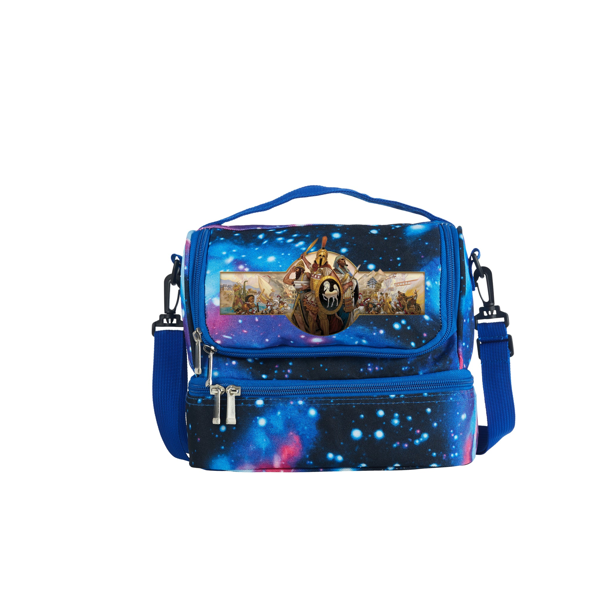 2019 Age Of Empires II Definitive Edition Series Kids Two Compartment Galaxy Lunch Bag