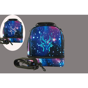 2019 Black Panther Logo Fashion Two Compartment Lunch Bag Glow In Dark