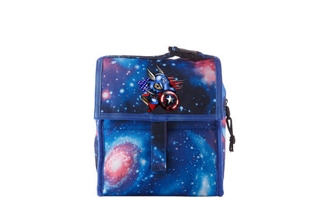 2019 Captain America Boys Freezable Lunch Bag with Zip Closure For School