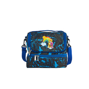 2019 Care Bears & Cousins Logo School Two Compartment Blue Graffiti Lunch Bag For Kids