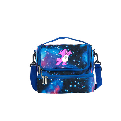 2019 Care Bears & Cousins Series Kids Two Compartment Galaxy Lunch Bag