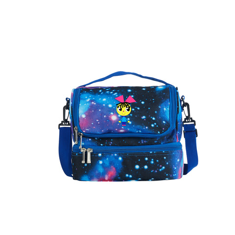 2019 Charlie's Colorforms City Theme Girls Two Compartment Galaxy Lunch Bag