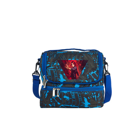2019 Control Game Theme Kids Two Compartment Blue Graffiti Lunch Bag