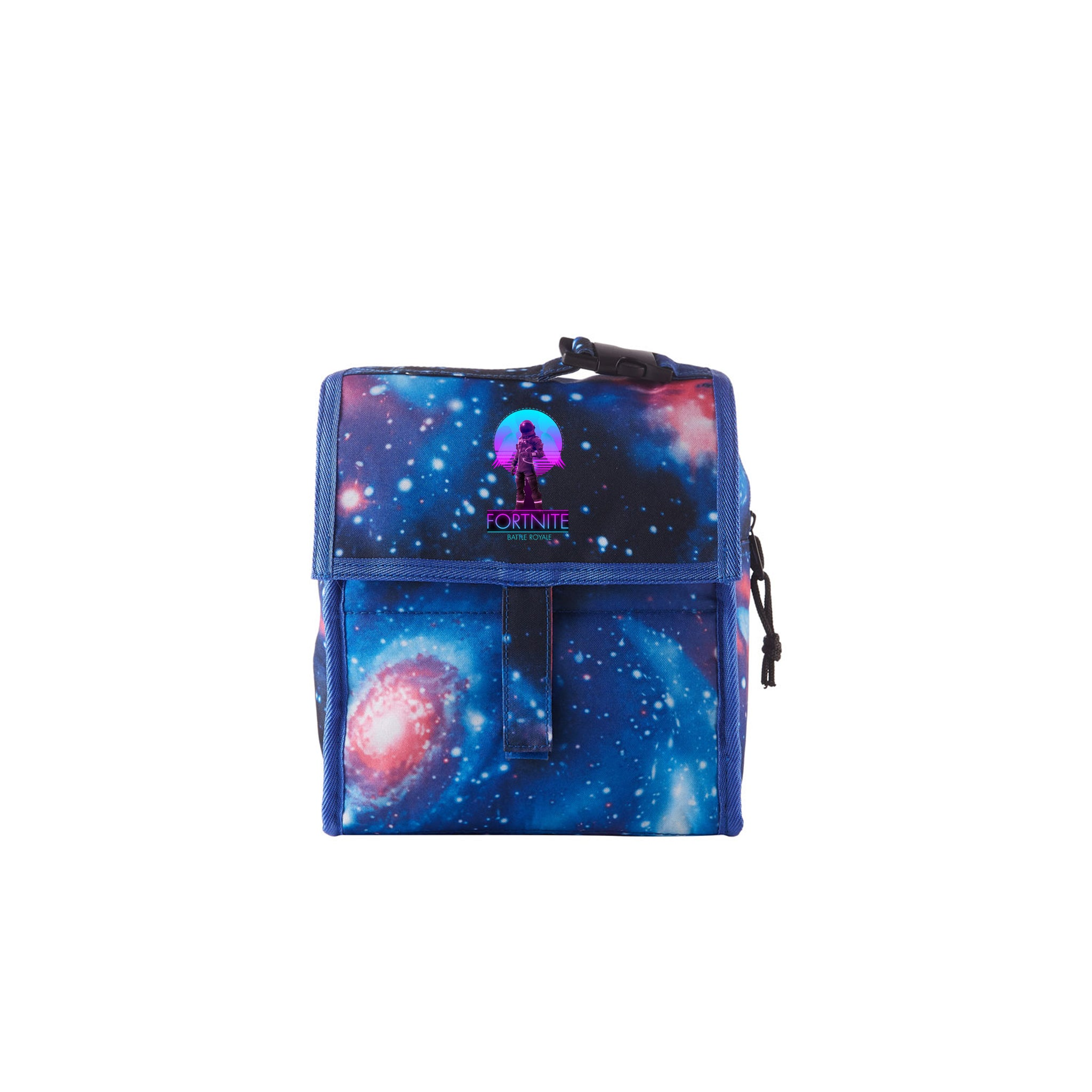 2019 Fortnite Logo Galaxy Freezable Lunch Bag with Zip Closure