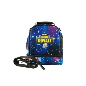 2019 Fortnite Theme Kids Two Compartment Lunch Bag For School