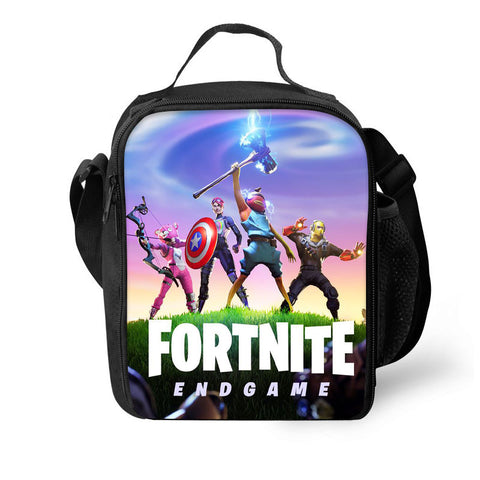 2019 Fortnite  End Game Themed 3D Pattern Large Capacity Lunch Bag