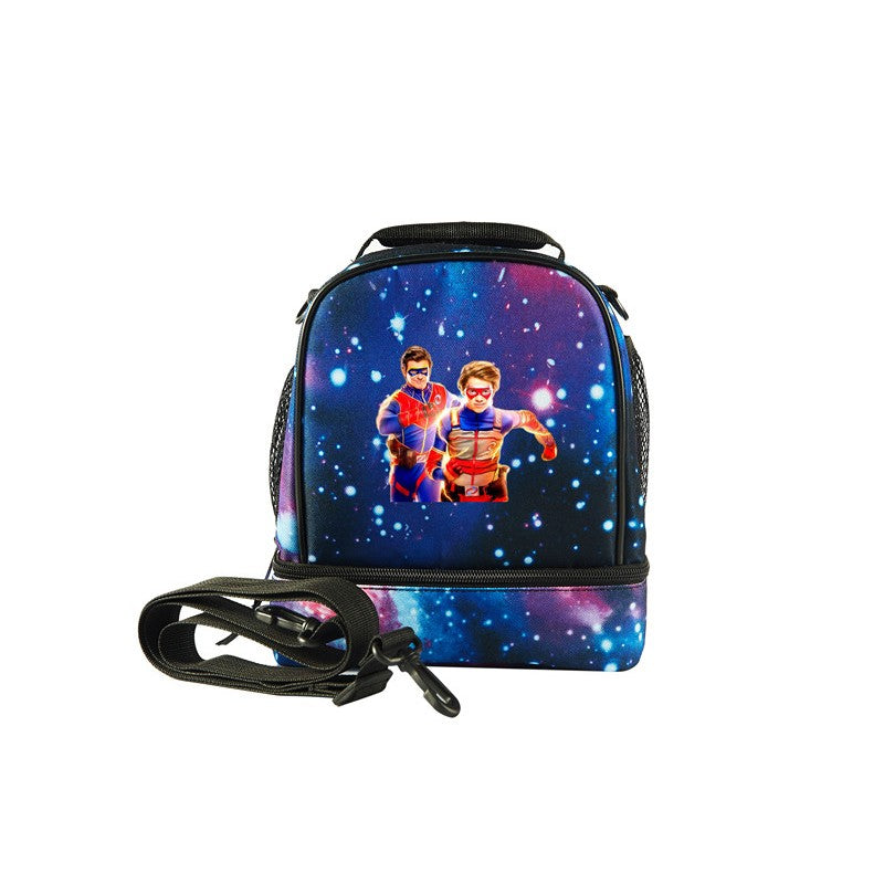 2019 Henry Danger Logo Kids Fashion Two Compartment Lunch Bag