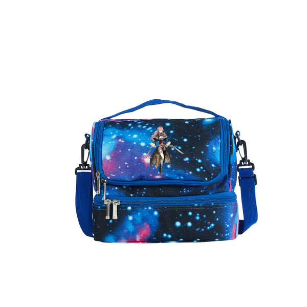 2019 Latest Model Oninaki Logo Kids Two Compartment Galaxy Lunch Bag