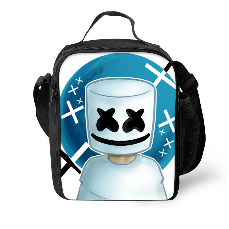 2019 Marshmello 3D Pattern Large Capacity Lunch Bag