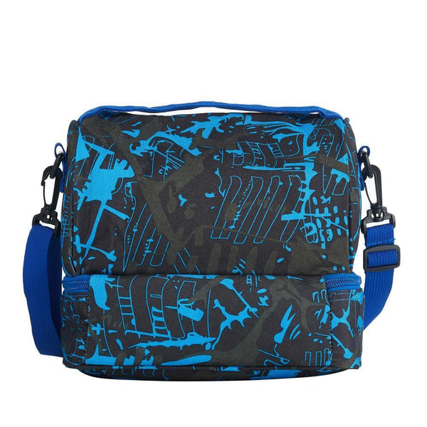 2019 Roblox Queen of the TreeLands Girls Two Compartment Blue Graffiti Lunch Bag For School