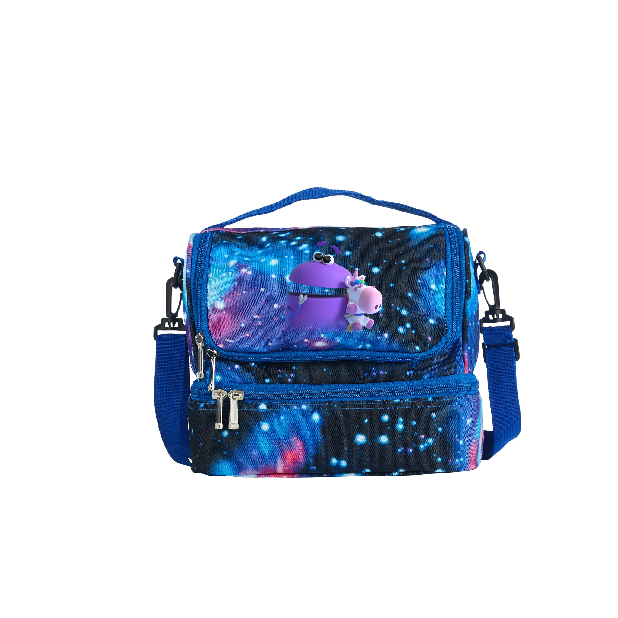 2019 New A Storybots Christmas Series Kids Two Compartment Galaxy Lunch Bag For School
