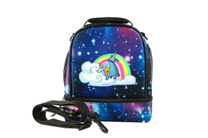2019 New Rainbow Llama Fortnite Two Compartment Lunch Bag