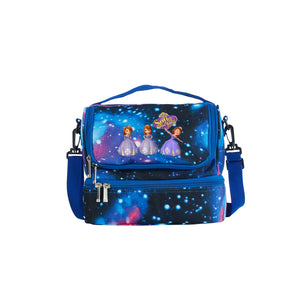 2019 New Sofia the First Theme Kids Two Compartment Galaxy Lunch Bag